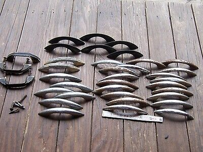 Lot Antique Vintage Cabinet Handles Pulls Deco Center Mid Century