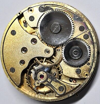 Vintage Pocket Watch Movement For Parts/repairs #w471