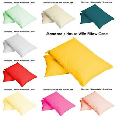 Luxury Cases Polycotton Housewife Pair Pack Bedroom Pillow Cover-2 X Pillow Case