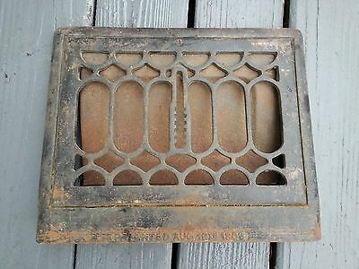 OLD VICTORIAN Cast Iron Heat Wall Vent Floor Grille Grate Register 8.5 x 12.5