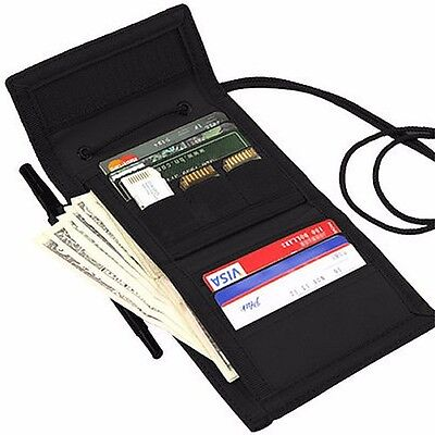 Condor 235 BLACK VAULT Tri-Fold Travel Wallet ID Badge Window Cards Coin Pouch