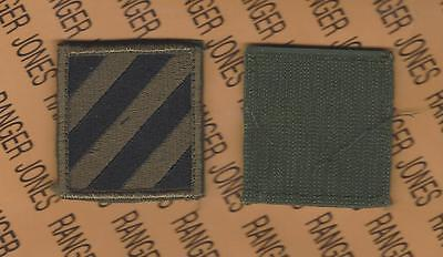 US Army 3rd Infantry Division MARNE OD Green & Black BDU Hook & Loop patch m/e