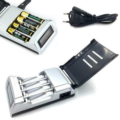 Rechargeable 4 Fente LCD Affichage chargeur de pile pour AA/AAA NiCd NiMh