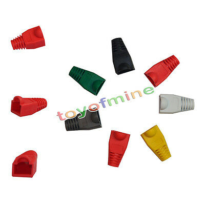 50x Modular RJ45 Network Cable Connector Plug Boot Strain Cover Caps