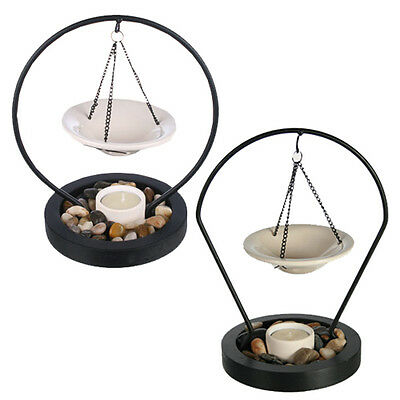 Tea Light Oil Burner With Stones Decor Candle Tart Warmer Ornament Gift New Home