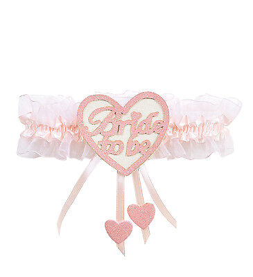 Bride To Be Heart Garter Pink Hen Party Night Novelty