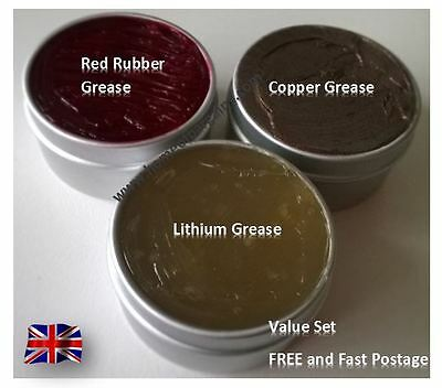 Castrol Red Rubber Grease Lithium Copper Set Brake Caliper Piston Seals O Rings