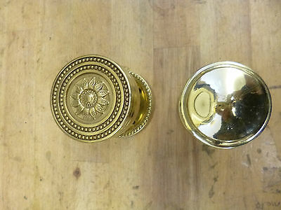 Two Vintage-style Brass Door Knobs - not matching