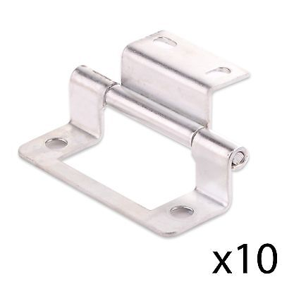 "10x CRANKED ZINC 50mm/2"" DOUBLE FLUSH HINGE Home Cabinet/Cupboard/Wardrobe Door"