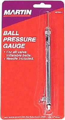 New Martin Basketball Football Soccer Any Sports Ball Pressure Gauge with Needle