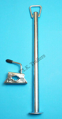 Prop Stand with HANDLE 34mm dia. x 600mm with CLAMP - Trailer Corner Steady
