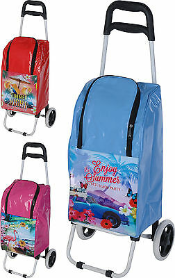Large Deluxe Cooler Bag 25 Litre Cool Bag with Metal Trolley Festivals Picnics