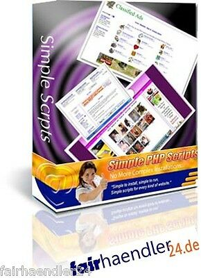 ★Simple Php Scripts 46 Scripte Webseite Paket Blog Banner Sexy Gästebuch Wow Mrr