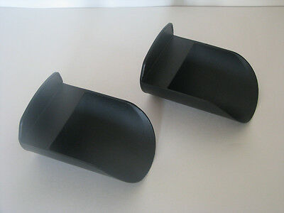 Tupperware Rocker Scoops set of 2 Black Flour Sugar Dry Goods Pet Food + New