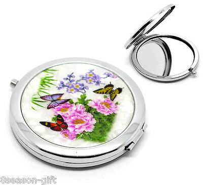 """GIFT 1PC Butterfly Pattern Make Up Compact Mirror 7.7x7cm(3""""x2-3/4"""") J00067"""