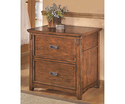 Ashley Lateral File Cabinet Cross Island Medium Brown H319-42 File Cabinet NEW