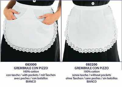 Isacco Grembiule Con Pizzo Donna Isacco Cameriera Waitress Apron With Lace