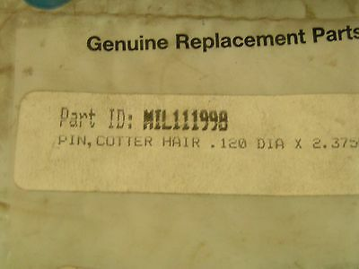 Miller 111998 Pin,cotter Hair .120 Dia X 2.375Lg X .5 Pack Of 7