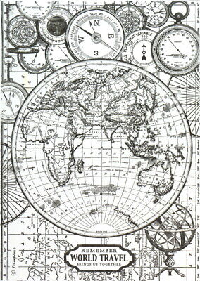 Vintage retro world map antique paper poster wall chart room rice paper for decoupage scrapbook craft sheet black white world map gumiabroncs Images