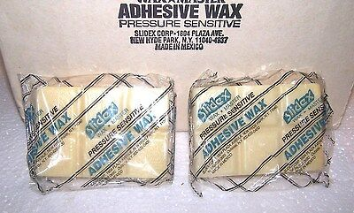 Slidex Adhesive Wax Bars 2 Refills Wax Master Paste Up Bond Grafting Arts Crafts