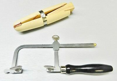 Jewelers Saw Frame and Wooden Ring Clamp Set of 2 Jewelry Making Tools Repairs