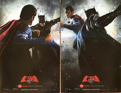 BATMAN v SUPERMAN Original *** AMC Movie Posters - Set of 2 Cavill Affleck