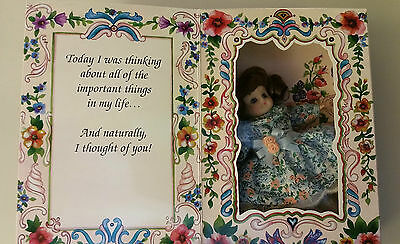 NIB Marie Osmond NIB 1994 Greeting Card Porcelain Limited Edition Doll Thinking
