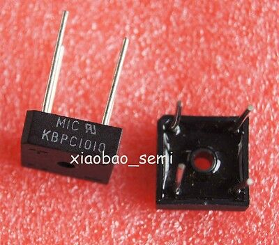 10PCS NEW KBPC1010 10A 1000V Metal Case Bridge Rectifier