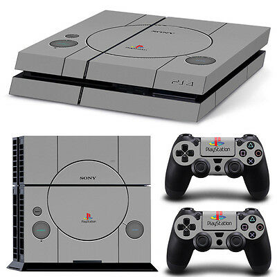 Decals Vinyl Sticker for PS4 Playstation 4 Console Controller Skin Retro PS1