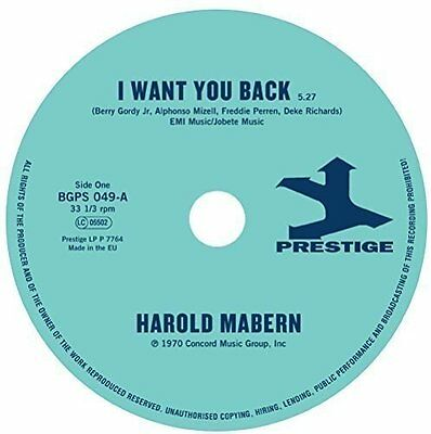 "Harold Mabern / Funk Inc - I Want You Back / Sister Janie - New 7"" Single"