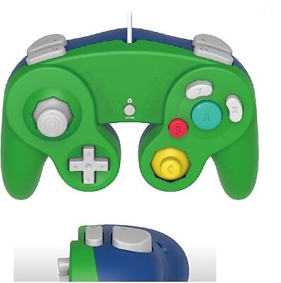 Brand New Controller for Nintendo GameCube or Wii - Green / Blue LUIGI Retail PK