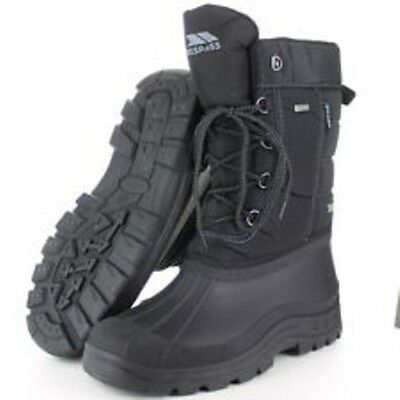 MENS TRESPASS SKI WINTER THERMAL APRES SKI SNOW BOOT BLACK SIZES 6-12  uk