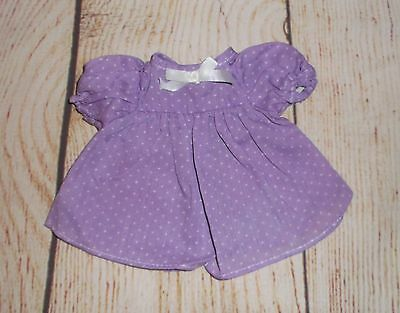 "VINTAGE doll lt PURPLE dot dress Factory for 11""-13"" Dolls fits PATSY dolls too!"