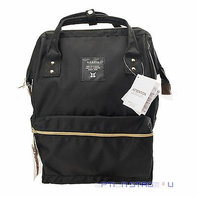 Anello Official Black Japan Unisex Fashion Backpack Rucksack Diaper Travel Bag