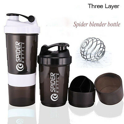 500ml Shaker Cups Sports Fitness Cup Water Bottle Portable Functional Bottle