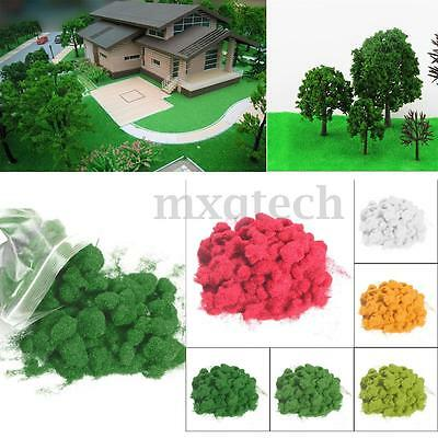 50g 2-3mm Simulation Woodland Scenics Static Grass Flock Scatter Scenery Grass