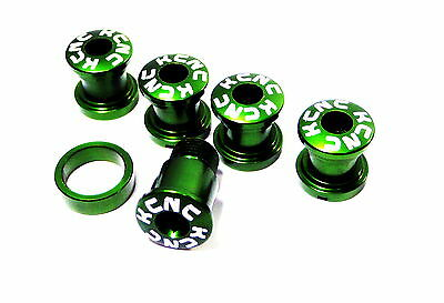 KCNC SPB009 Road Bike Crank Chainring Bolts Nuts for Campy Campagnolo use Green