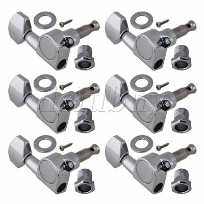 Brand new Chrome 6R In line Electric Guitar tuning peg machine heads