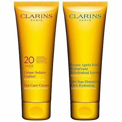 NEW Clarins Gifts & Sets Recruiting Sun Kit 2 x 100ml FREE P&P