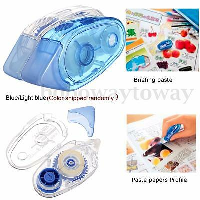 1/2/3/4/5/10/20x Blue Double Glue Roller Sided Tape Pen Adhesive Sticky Transfer