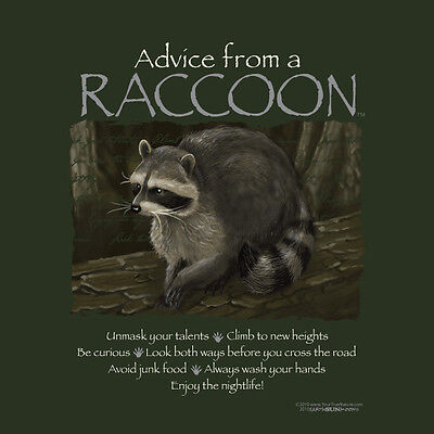 Advice From A Raccoon Large  Adult T-Shirt