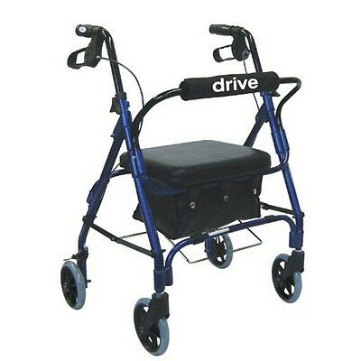 Junior Rollator With Padded Seat Blue New
