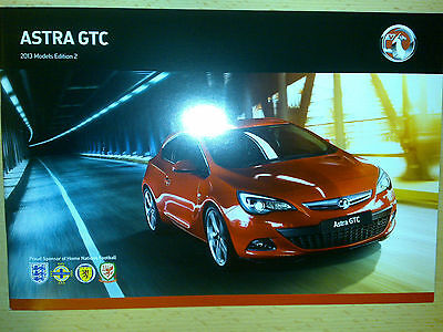 Vauxhall Astra Gtc 2012 Models Edition 2 Sales Brochure
