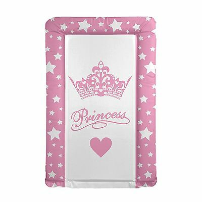 New 4Baby Little Princess Pink / White Padded Baby Girls Changing Mat From Birth