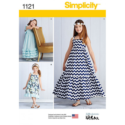 Simplicity Sewing Pattern 1121 Child's and Girls' Pullover Dresses