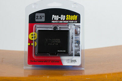 Delkin Devices Black Universal Pop-Up Shade for 2.5 inch LCD Screens - New