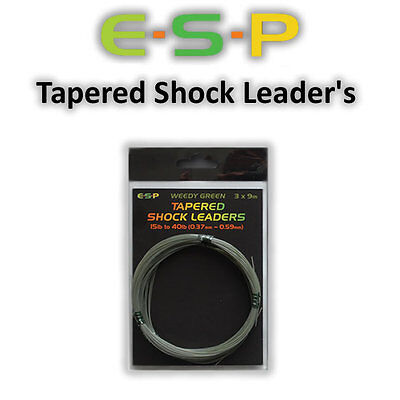 Esp Tapered Shock Leaders *All Types* Carp Fishing