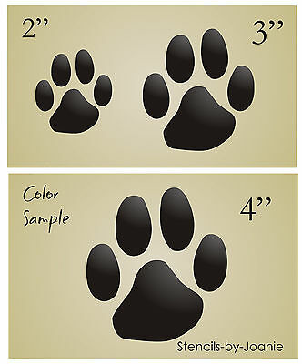 Stencil Paw Prints Dog Puppy Cat Pet Theme Animal Tracks Sbook Vet Art Signs