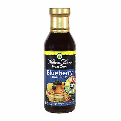 WALDEN FARMS NEAR ZERO CALORIE BLUEBERRY SYRUP 355ml (DAIRY FREE-GUILT FREE)