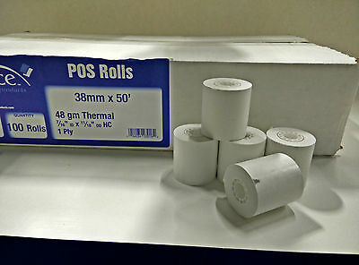 TAXI/CAB METER POS PAPER THERMAL ROLL 100CT 38mm x50' CENTRODYNEPULSAR IN STOCK
